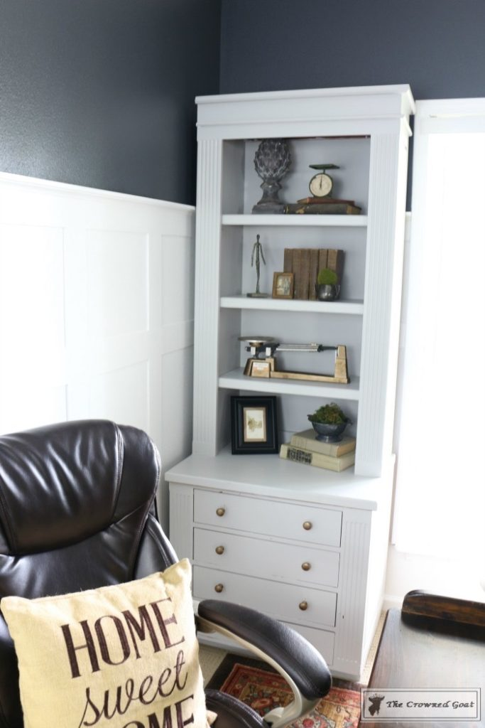 Home-Office-Makeover-Reveal-The-Crowned-Goat-10-683x1024 Home Office Makeover Decorating DIY Painted Furniture