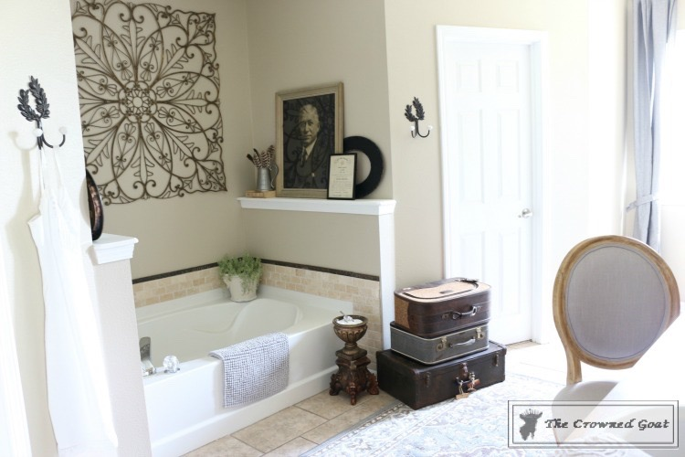 Master-Bathroom-Makeover-The-Crowned-Goat-25 Master Bathroom Makeover Decorating DIY Painted Furniture