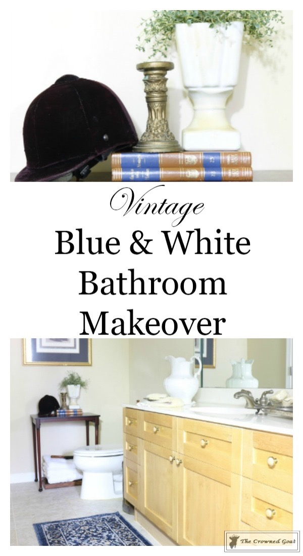 Blue-and-White-Bathroom-Makeover-The-Crowned-Goat-3 Blue and White Bathroom Makeover Decorating