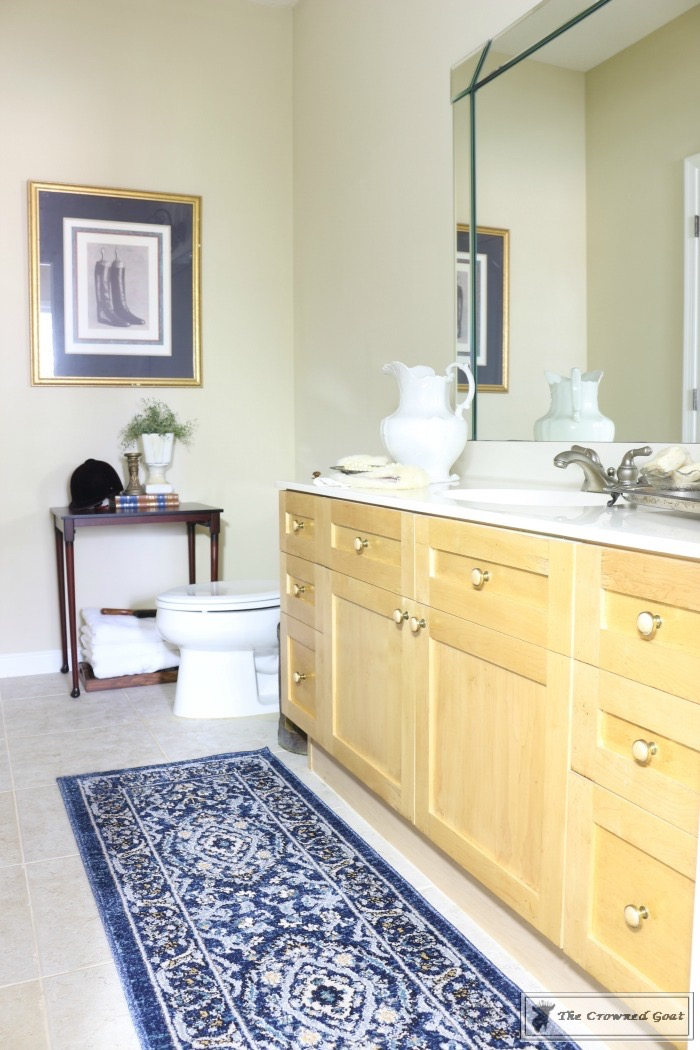 Blue-and-White-Bathroom-Makover-The-Crowned-Goat-19 Blue and White Bathroom Makeover Decorating