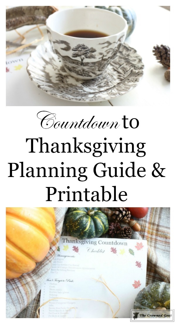 Thanksgiving-Countdown-Planning-Guide-The-Crowned-Goat-5 Easy Thanksgiving Planning Guide and a Free Printable Fall Organization
