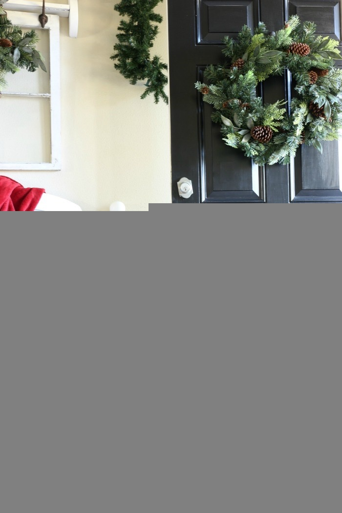 Simple-Tips-for-Christmas-Entry-Decorating-The-Crowned-Goat-6 Mad for Plaid Christmas Entry Christmas