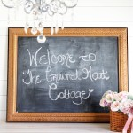 Wall-Art-into-DIY-Chalkboard-The-Crowned-Goat Decorating