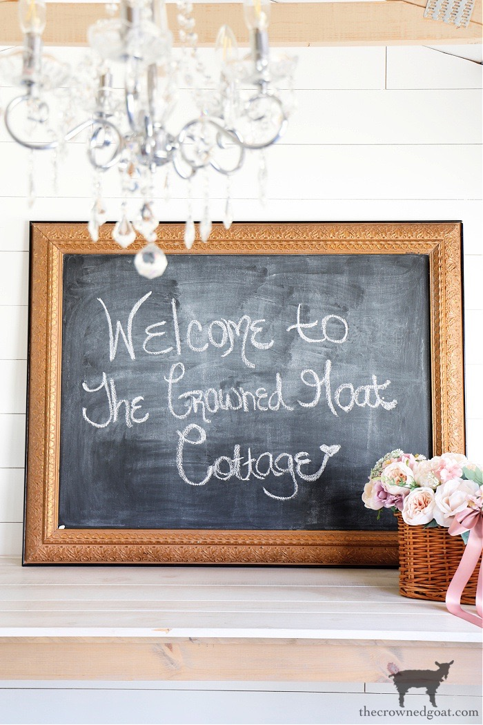 Wall-Art-into-DIY-Chalkboard-The-Crowned-Goat How to Repurpose a Picture into a Chalkboard Crafts Decorating DIY Organization