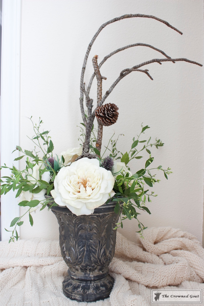 create-a-simple-flower-arrangement-the-crowned-goat-11-1 How to Create a Simple Flower Arrangement Back to Basic Decorating DIY