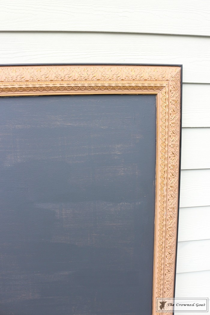 how-to-repurpose-a-picture-into-a-chalkboard-the-crowned-goat-5 How to Repurpose a Picture into a Chalkboard DIY