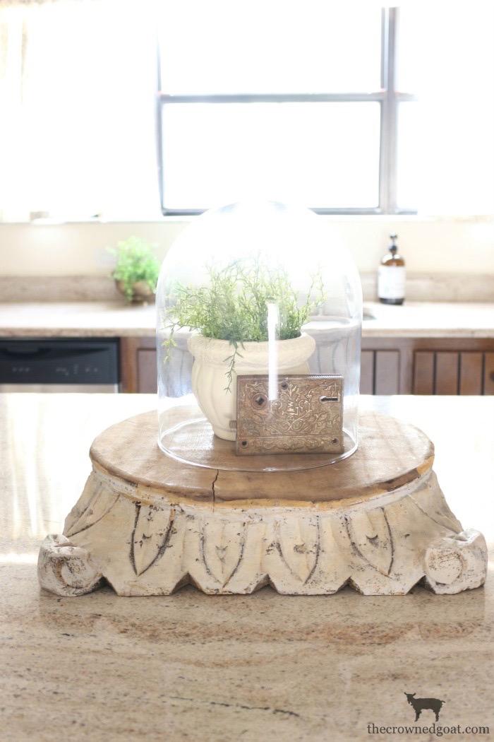 """DIY-Antique-Wooden-Pedestal-The-Crowned-Goat-18 """"Antique"""" Wood Pedestal Makeover DIY"""