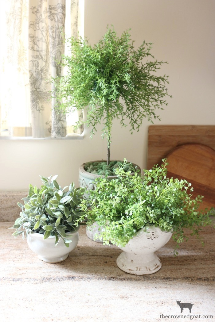 How-to-Create-a-Faux-Herb-Topiary-The-Crowned-Goat-14 How to Make a Simple Herb Topiary DIY