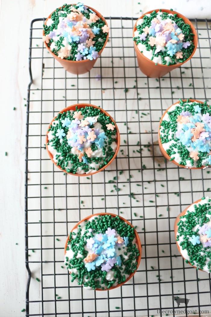 Flower-Pot-Cupcakes-The-Crowned-Goat-16 Spring Inspired Flower Pot Cupcakes Baking Spring