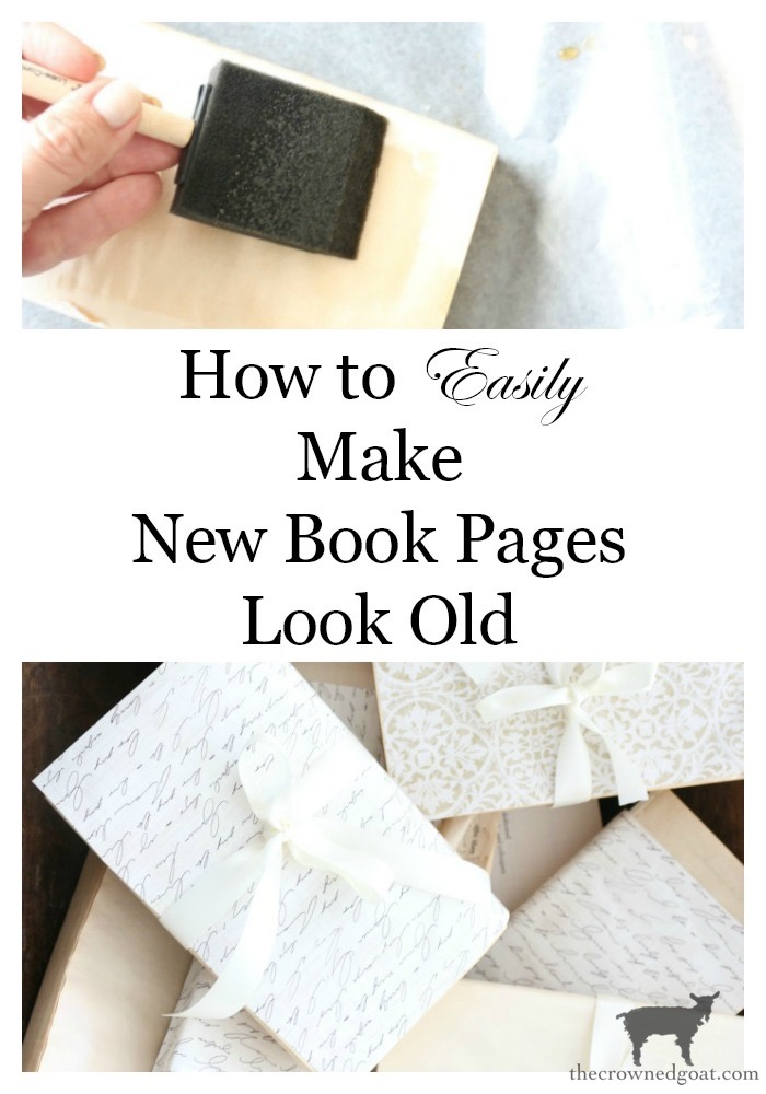 How-to-Make-New-Book-Pages-Look-Old-The-Crowned-Goat-20-1 How to Make Book Pages Look Aged Decorating DIY