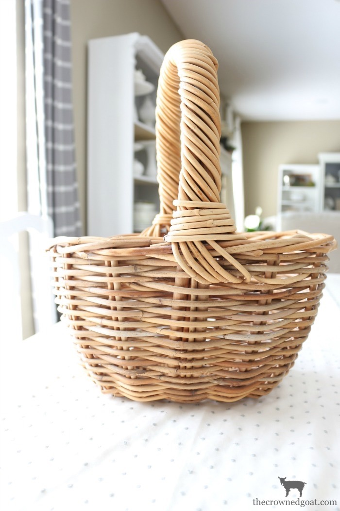 How-to-Make-a-Simple-Easter-Basket-Centerpiece-The-Crowned-Goat-5 Easter Basket Centerpiece Spring