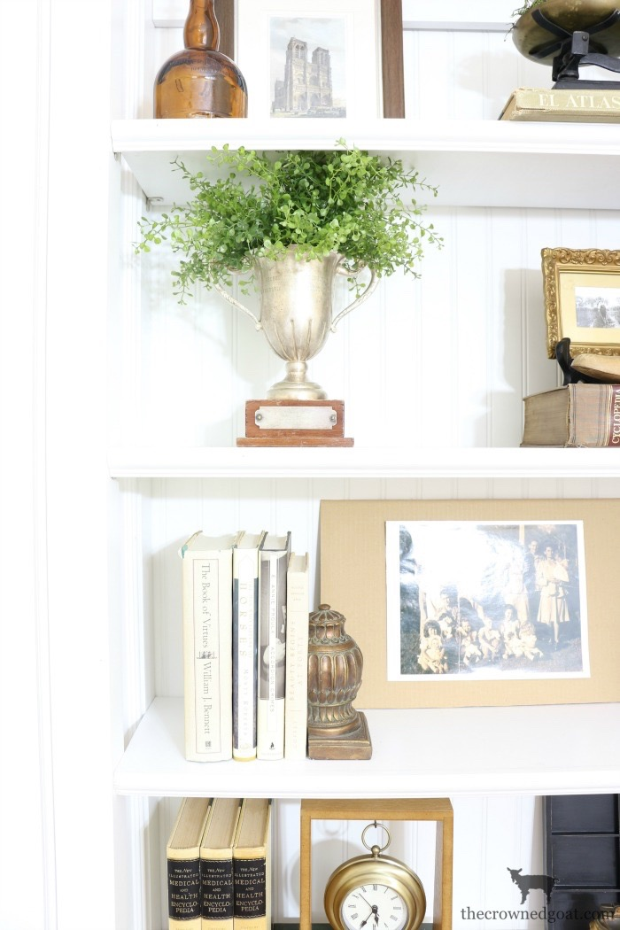 Custom-Built-Bookcase-The-Crowned-Goat-11 DIY Custom Bookcases from Columns Loblolly_Manor