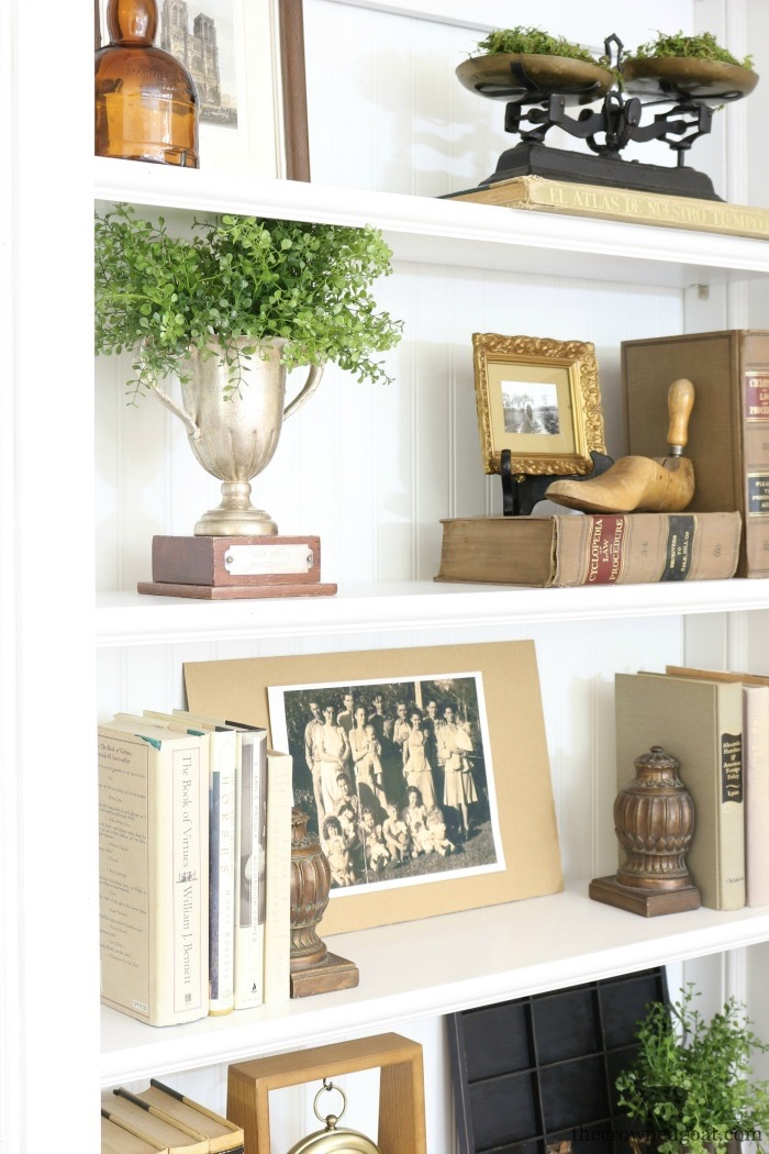 Custom-Built-Bookcase-The-Crowned-Goat-13 DIY Custom Bookcases from Columns Loblolly_Manor