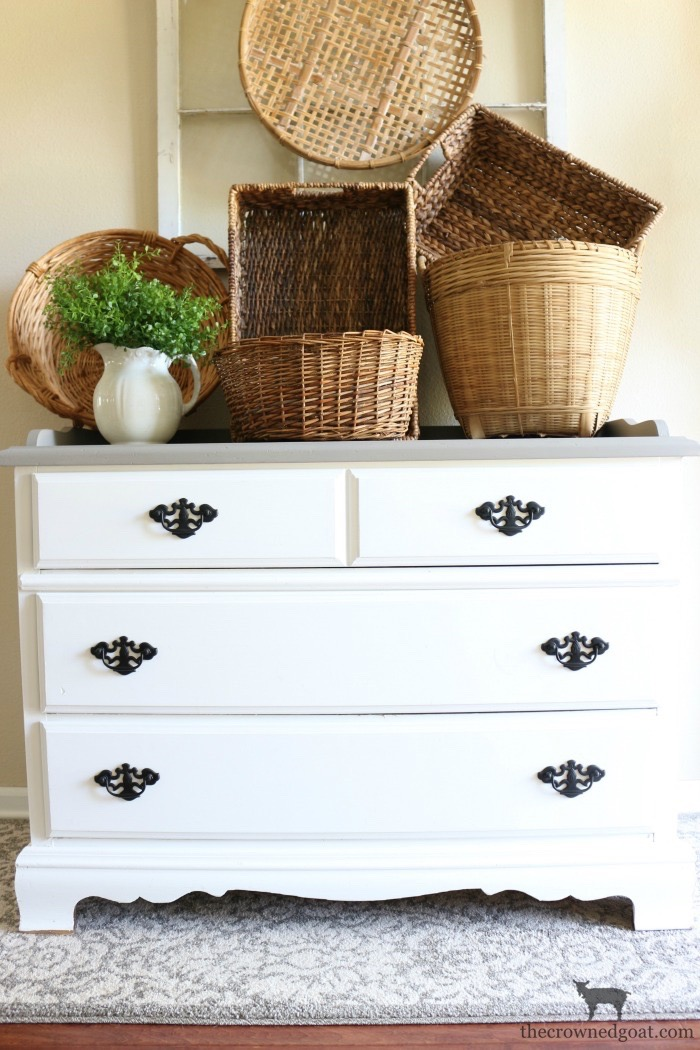 French-Linen-Buffet-Makeover-The-Crowned-Goat-10 Laundry Room Buffet Makeover One_Room_Challenge
