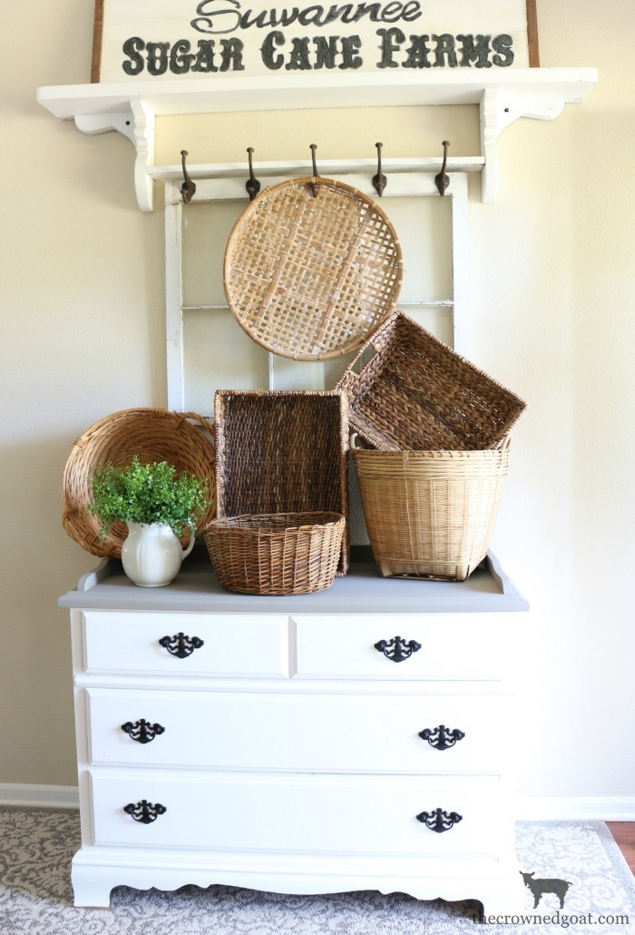 French-Linen-Buffet-Makeover-The-Crowned-Goat-11 Laundry Room Buffet Makeover One_Room_Challenge