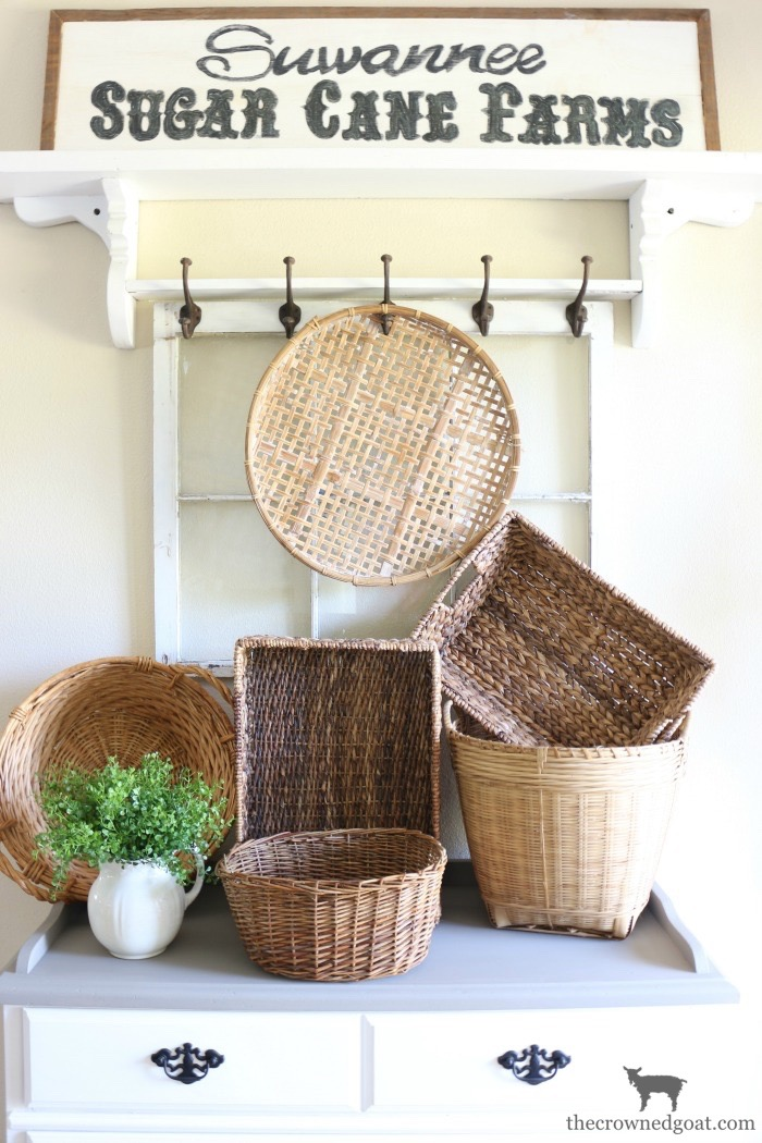 French-Linen-Buffet-Makeover-The-Crowned-Goat-12 Laundry Room Buffet Makeover One_Room_Challenge