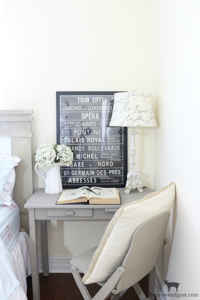 French-Linen-Desk-Makeover-The-Crowned-Goat-10 French Linen Desk Makeover Painted Furniture