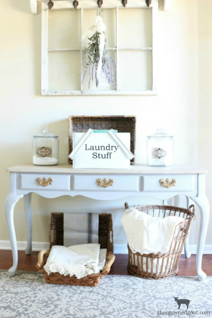 French-Linen-Vanity-Makeover-The-Crowned-Goat-2 French Linen Vanity Makeover Loblolly_Manor Painted Furniture