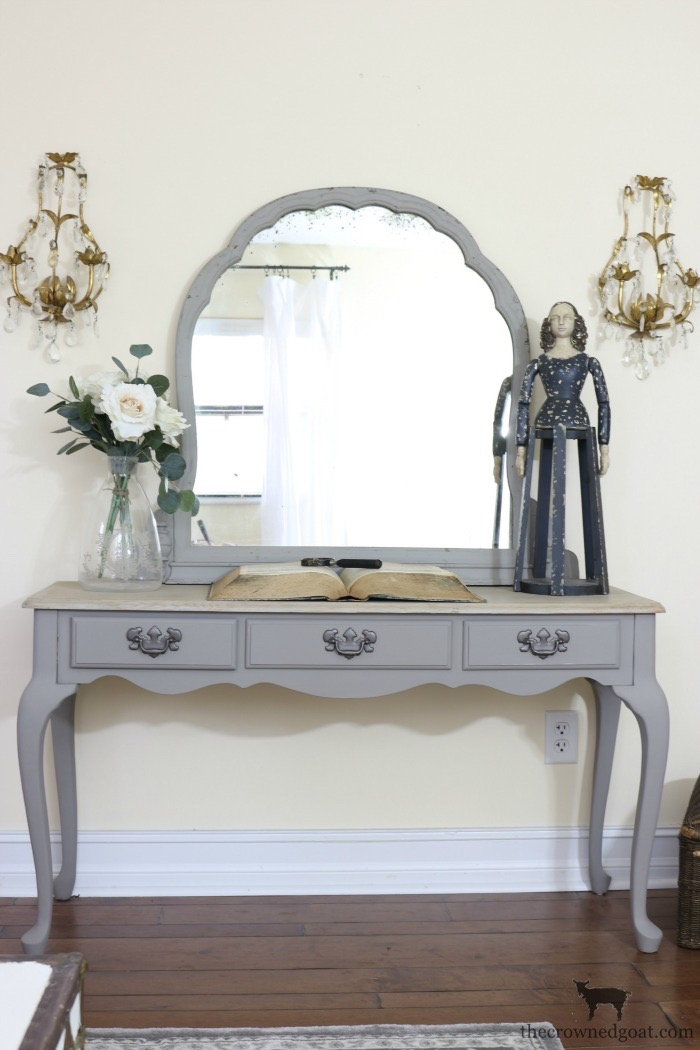 French-Linen-Vanity-Makeover-The-Crowned-Goat-4 French Linen Vanity Makeover Loblolly_Manor Painted Furniture