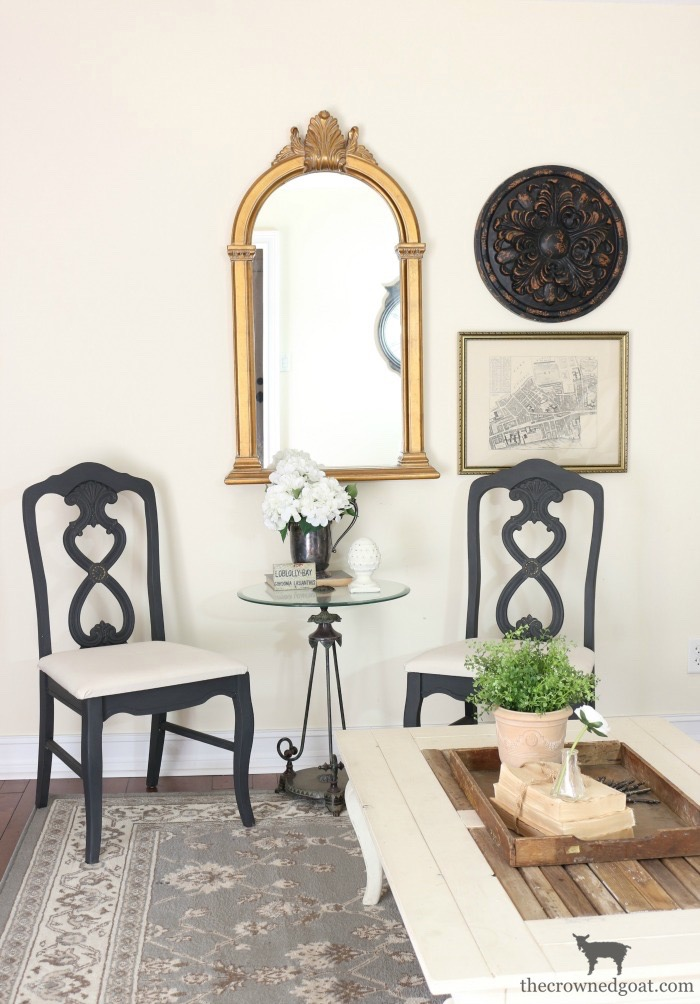 Milk-Paint-to-Chalk-Paint-Makeover-The-Crowned-Goat-12 Milk Paint to Chalk Paint Chair Makeover Painted Furniture