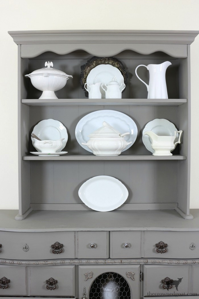 Tips-for-Styling-a-Dining-Room-Hutch-The-Crowned-Goat-12 Eight Easy Tips for Styling a Dining Room Hutch Decorating Loblolly_Manor