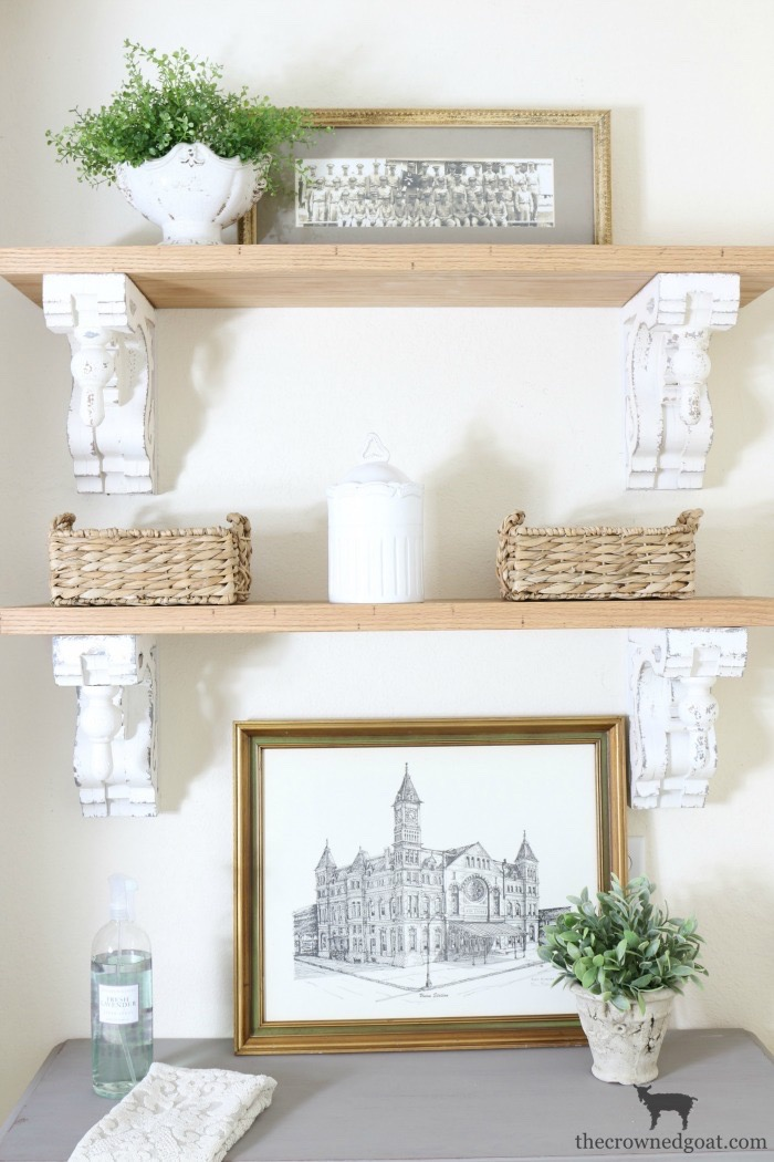 DIY-Laundry-Room-Shelves-The-Crowned-Goat-14 Loblolly Manor: Adding Shelves to the Laundry Room Decorating Loblolly_Manor One_Room_Challenge