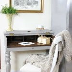 French-Linen-Kitchen-Desk-Makeover-The-Crowned-Goat-8 Loblolly Manor