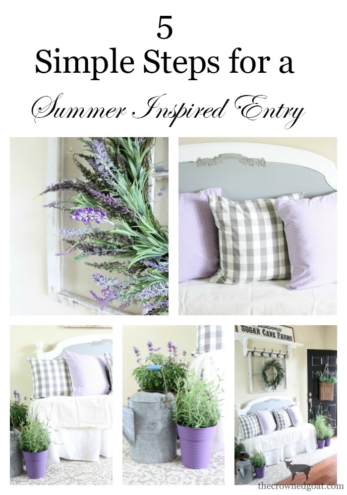 Summer-Decorating-Ideas-for-the-Entry-The-Crowned-Goat-13a The Busy Girl's Guide to Summer Decorating: The Entry Decorating DIY Summer