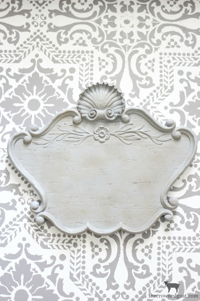 DIY-French-Inspired-Wall-Plaque-The-Crowned-Goat-10 French Inspired Wall Plaque Decorating DIY Loblolly_Manor