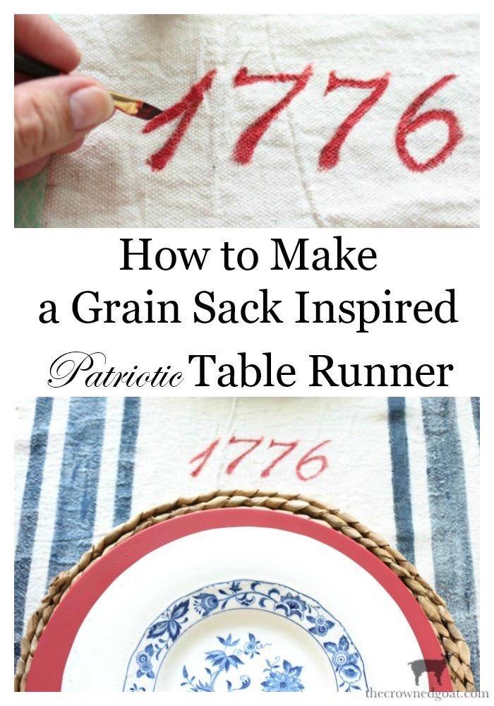 Patriotic-Grain-Sack-Table-Runner-The-Crowned-Goat-26 Patriotic Inspired Grain Sack Table Runner Decorating DIY Summer