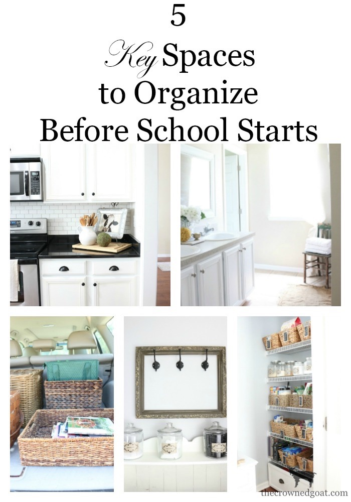 Key-Spaces-to-Organize-Before-School-Starts-The-Crowned-Goat-3 5 Key Spaces to Organize Before School Starts Organization