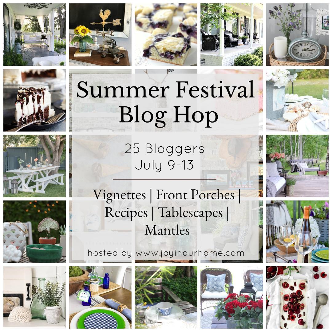 Summer-Festival-Blog-Hop-Collage Coastal Inspired Tablescape Decorating Summer