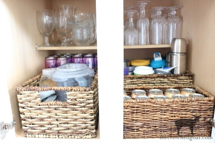 drink-zone-cabinet-organizations-The-Crowned-Goat-13 A Simple & Efficient Drink Zone in 3 Easy Steps DIY Organization