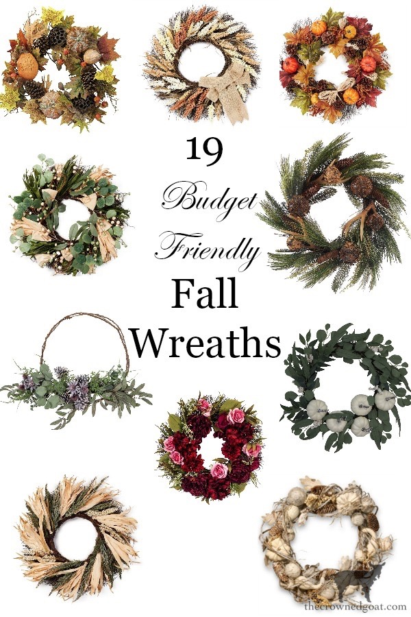 19-Budget-Friendly-Fall-Wreaths-The-Crowned-Goat-9 19 Fall Wreath Ideas Under $50 Fall