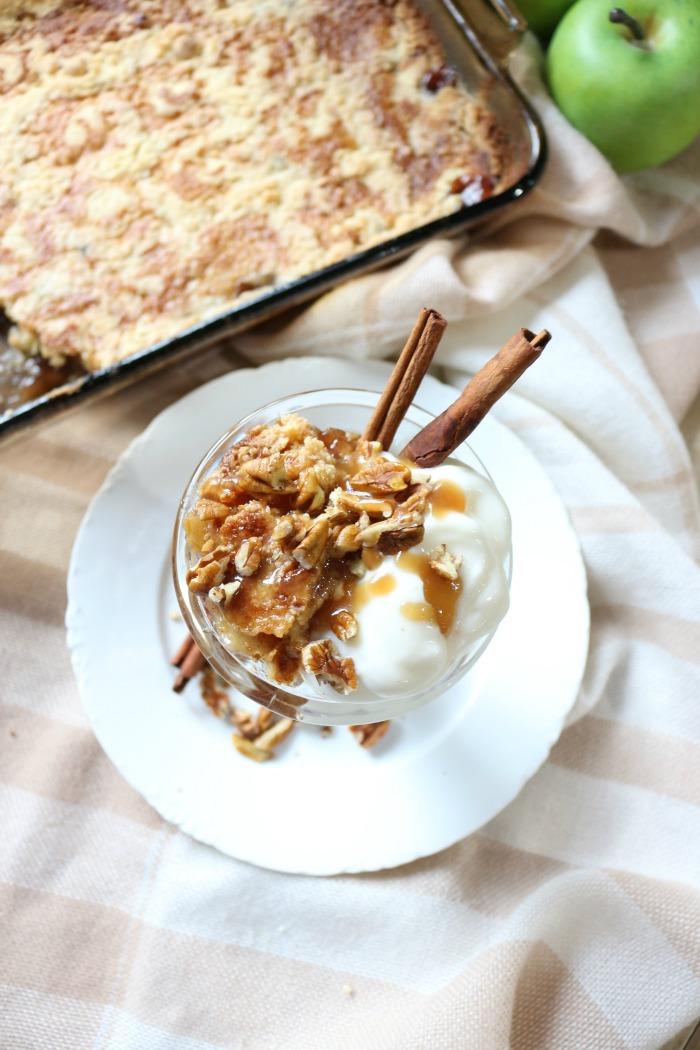 Easy-Salted-Caramel-Apple-Dump-Cake-The-Crowned-Goat-11 The Easiest Salted Caramel Apple Dump Cake Baking