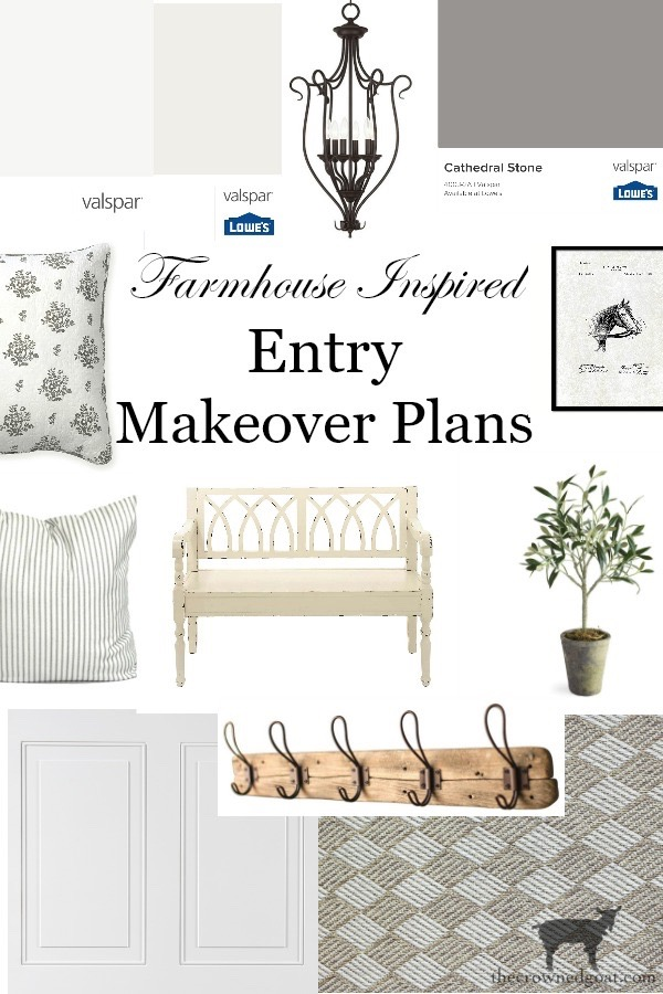 Farmhouse-Entry-Makeover-Plans-The-Crowned-Goat-3 Farmhouse Inspired Entry Makeover Plans Decorating