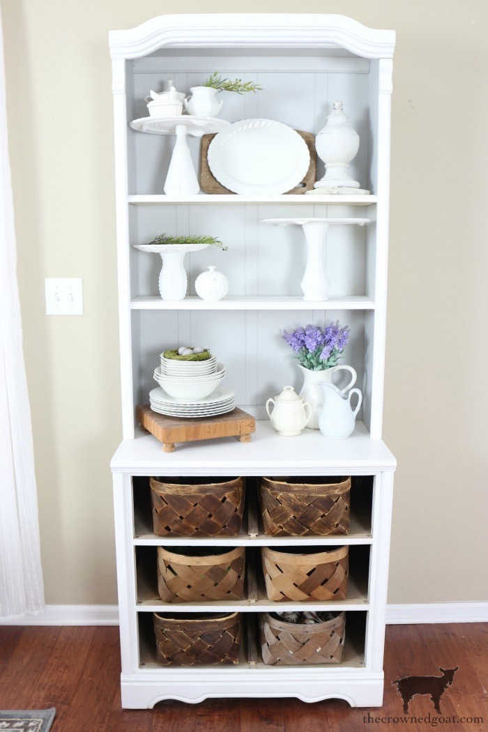 French-Hutch-Makeover-The-Crowned-Goat-1-1 French Linen Hutch Makeover DIY Painted Furniture