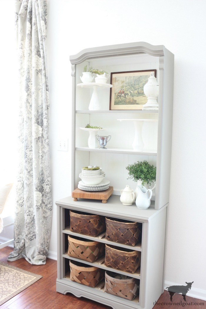 French-Linen-Hutch-Makeover-The-Crowned-Goat-16 French Linen Hutch Makeover DIY Painted Furniture