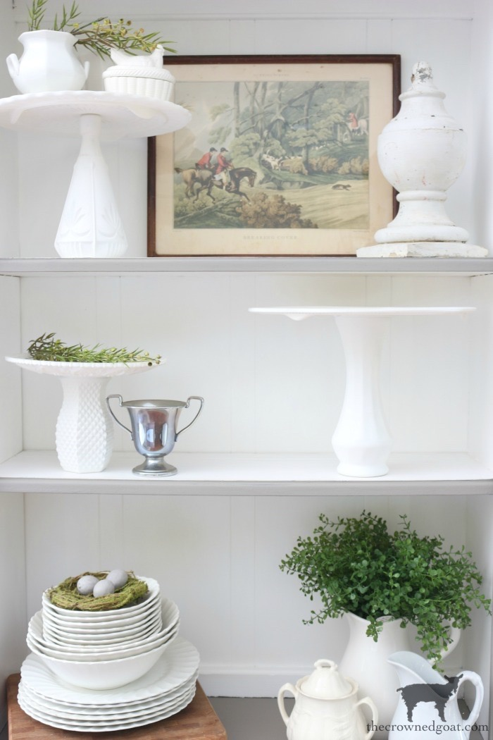 French-Linen-Hutch-Makeover-The-Crowned-Goat-6 French Linen Hutch Makeover DIY Painted Furniture