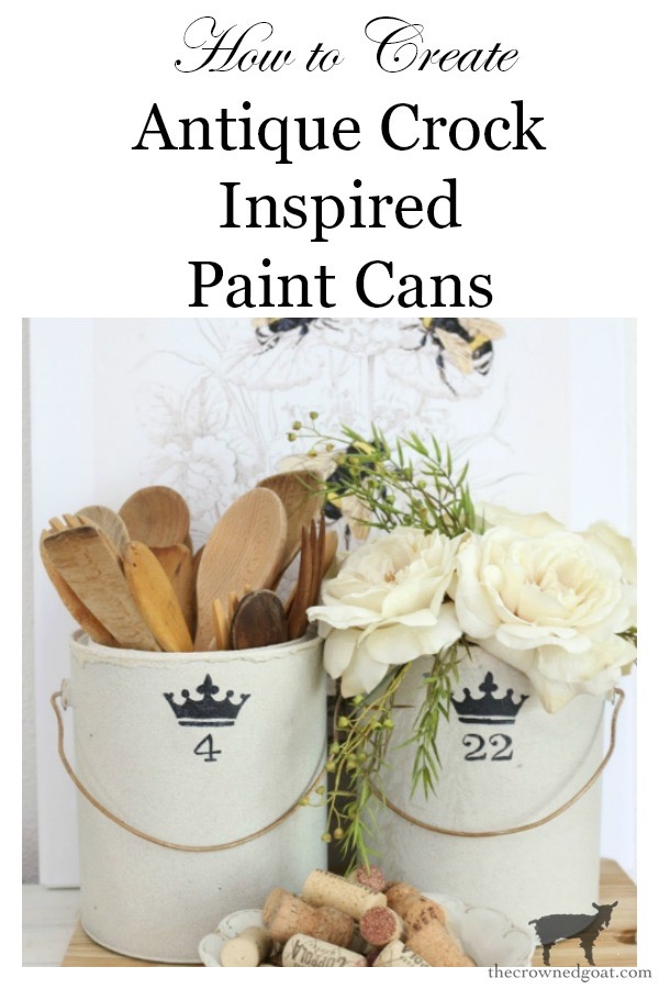 Crock-Inspired-Paint-Cans-The-Crowned-Goat-19-1 How to Create Crock Inspired Paint Cans Decorating DIY Fall Holidays Spring Summer