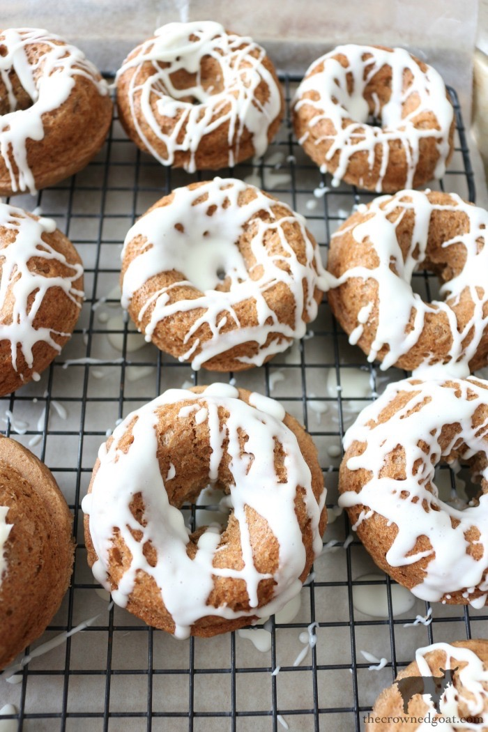Easy-Spice-Cake-Donuts-The-Crowned-Goat-10 Spice Cake Donuts with Cream Cheese Frosting Baking Fall
