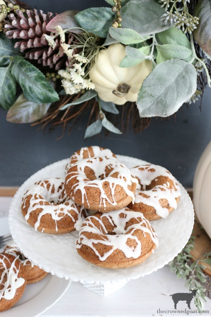 Easy-Spice-Cake-Donuts-The-Crowned-Goat-11 Spice Cake Donuts with Cream Cheese Frosting Baking Fall