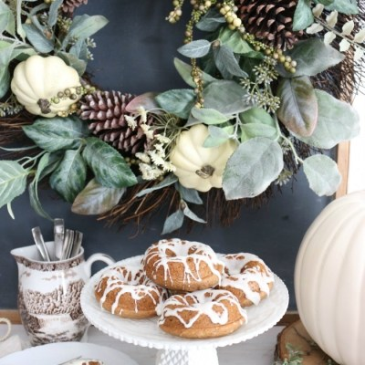 Spice Cake Donuts with Cream Cheese Frosting