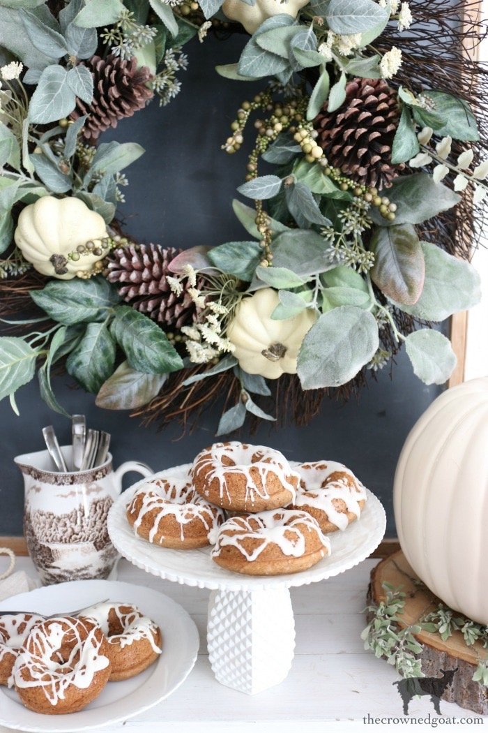 Easy-Spice-Cake-Donuts-The-Crowned-Goat-2 Spice Cake Donuts with Cream Cheese Frosting Baking Fall