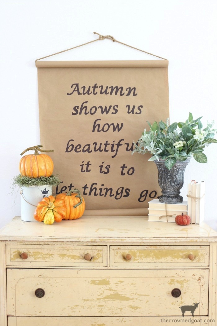 Fall-Inspired-Kraft-Paper-Sign-The-Crowned-Goat-16 How to Make a Fall Inspired Kraft Paper Sign Decorating DIY Fall