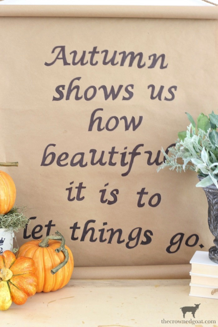 Fall-Inspired-Kraft-Paper-Sign-The-Crowned-Goat-17 How to Make a Fall Inspired Kraft Paper Sign Decorating DIY Fall