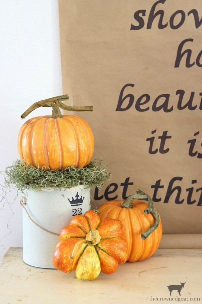 Fall-Inspired-Kraft-Paper-Sign-The-Crowned-Goat-2 How to Make a Fall Inspired Kraft Paper Sign Decorating DIY Fall