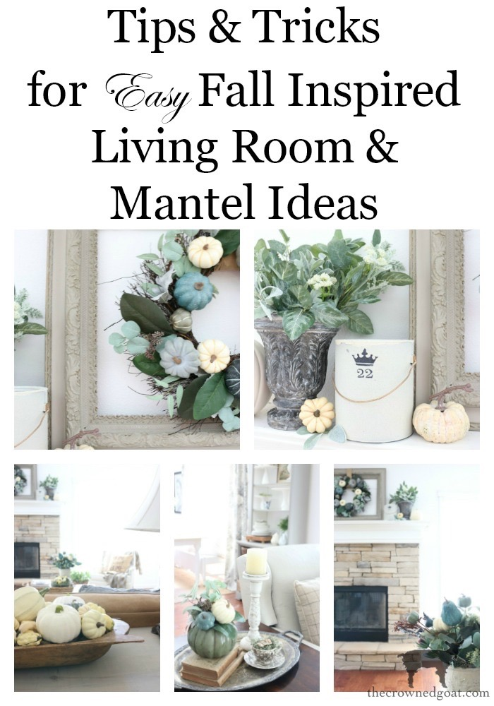 Fall-Inspired-Living-Room-Mantel-The-Crowned-Goat-17 Fall Inspired Living Room and Mantel Decorating DIY Fall