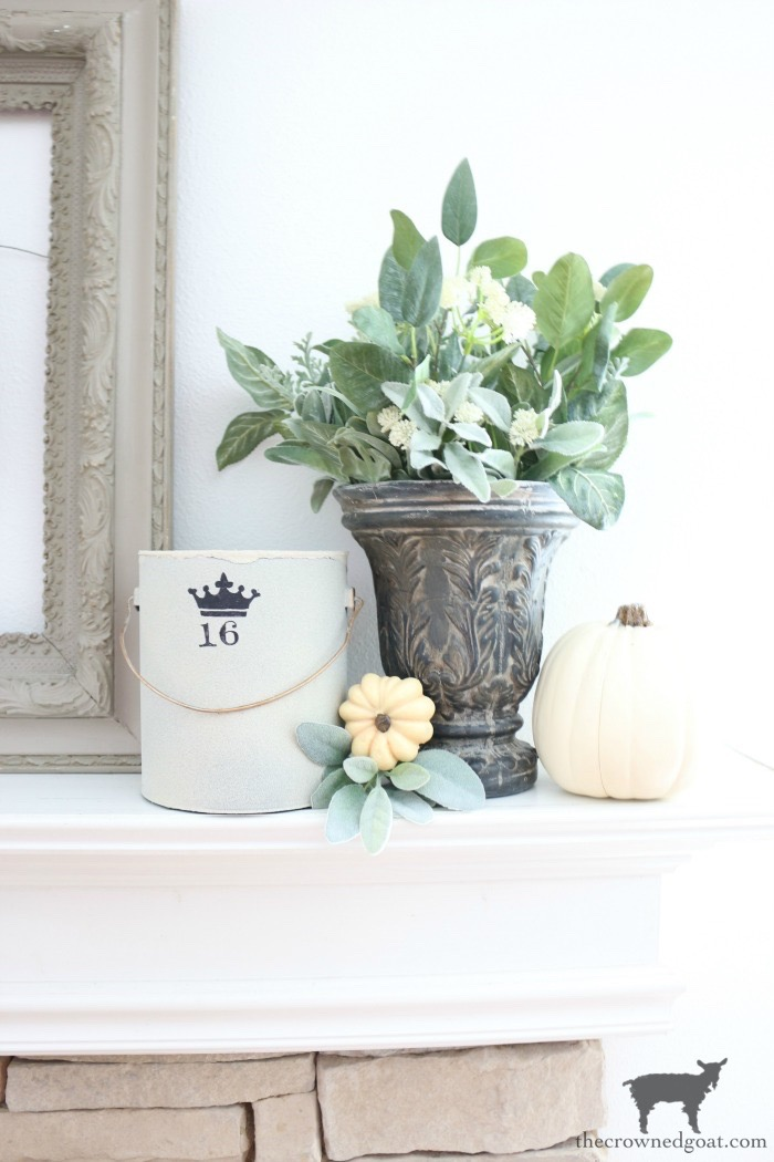 Fall-Inspired-Mantel-The-Crowned-Goat-7 Fall Inspired Living Room and Mantel Decorating DIY Fall