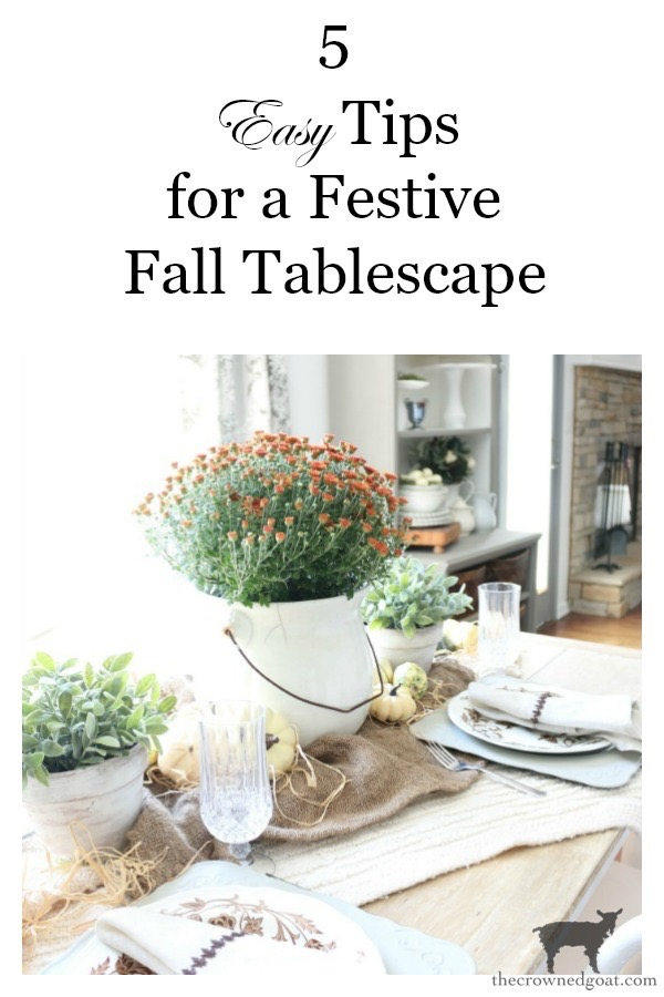 Festive-Fall-Tablescape-Tips-The-Crowned-Goat-14 5 Easy Tips for a Festive Fall Tablescape Decorating Fall